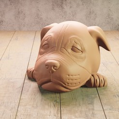4 dog t.jpg Download STL file baby American Staffordshire terrier • Object to 3D print, Aslan3d