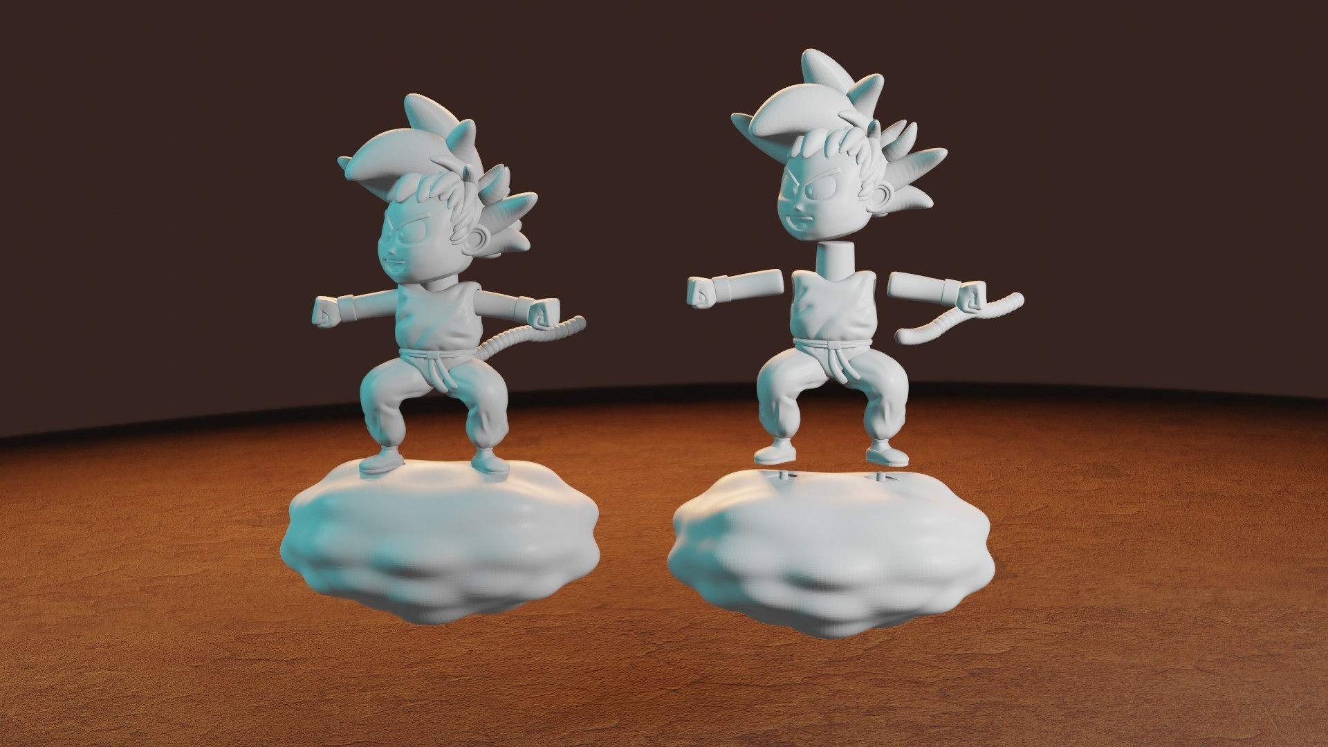 rENDER10.jpg Télécharger fichier STL gratuit L'enfant Goku dans le nuage • Objet pour impression 3D, Aslan3d