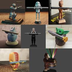 Publicación de Instagram Sencillo Mes de Grandes Espacios Abiertos en Azul.png Télécharger fichier STL 8 porte-crayons • Objet imprimable en 3D, Aslan3d