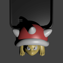 Download 3D printing designs spiny koopa porta celular, Aslan3d