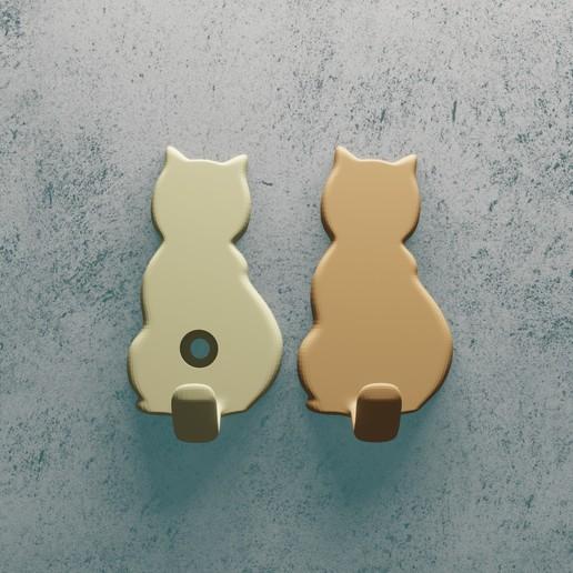 Télécharger objet 3D gratuit crochet en forme de chat, Aslan3d