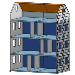 Maison poupee.jpg Download STL file Doll house (Sylvanian, playmobil) 40x21x51cm • 3D printable model, BlinkAway