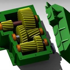 Reductora H3.jpg Télécharger fichier STL Motoréducteur • Plan pour imprimante 3D, gabrielromanvega