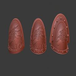 Salamanders_Shoulder_pads.png Télécharger fichier STL gratuit Épaulettes de salamandres - Mk II III VII • Modèle pour imprimante 3D, Cornivius