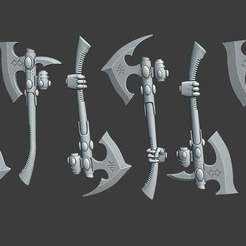 NewCanvas3.jpg Download free STL file Space Elf Axes for Big Boy Spirit RObot • 3D printer object, Cornivius