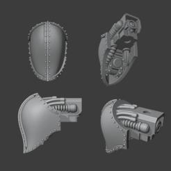 Psi Knight Render.png Télécharger fichier STL Chevalier Cerastus Psi-Tête • Modèle pour impression 3D, Cornivius