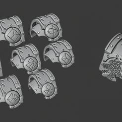 Download free 3D printing designs Flamedragons shoulderpads, Cornivius