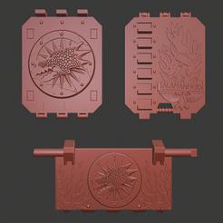 Land_raider_front.png Télécharger fichier STL gratuit Portes des salamandres Land Raider • Plan imprimable en 3D, Cornivius