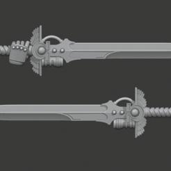 UM_Sword_2.png Download free STL file Ultramarine Powersword • 3D printing template, Cornivius