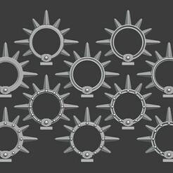 Bladeguard Halos V2.jpg Télécharger fichier STL Halos en fer de Bladeguard • Plan à imprimer en 3D, Red-warden-miniatures