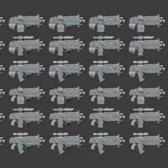 Bolt_Rifles.jpg Download free STL file Rivet Rifle • 3D printing template, Cornivius