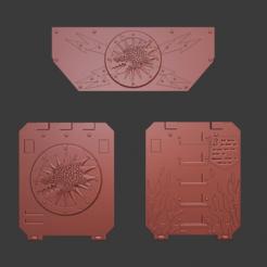 Download free STL file Salamanders Rhino Door and Frontal Ornaments • 3D printer template, Cornivius