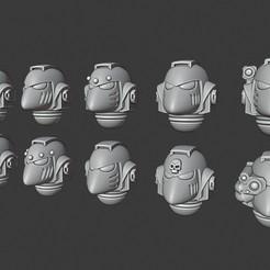 Basic Beakies.jpg Download STL file Primris Beaky Helmets • 3D print model, Cornivius