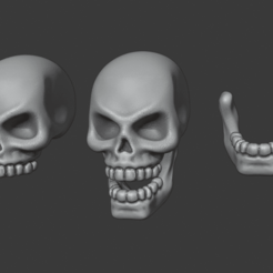 Heroic_Skull.png Download free STL file Heroic Human Skull • Template to 3D print, Red-warden-miniatures