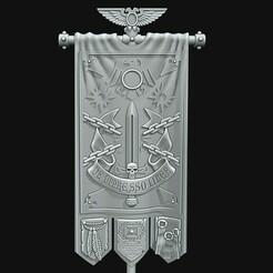 Shapeways RG banner.jpg Télécharger fichier STL Bannière de la Garde Corbeau • Design pour impression 3D, Red-warden-miniatures