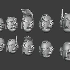 Tactical Greek Heads.jpg Télécharger fichier STL Casques grecs - Version tactique • Objet pour impression 3D, Red-warden-miniatures