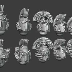 NewCanvas5.jpg Télécharger fichier STL Casques grecs - Version vétéran/commandant • Modèle pour impression 3D, Red-warden-miniatures