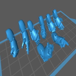Power_Fists.png Download free STL file Posable Power Fist • 3D print design, Cornivius