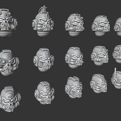 Wolfmen Helmets.jpg Download STL file Wolf Skull Helmets • 3D printing object, Cornivius