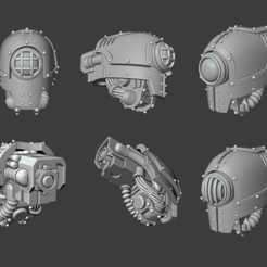 Mecha Cyclops.png Download STL file Cyclopean Cerastus Knight head • Object to 3D print, Cornivius