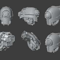 Mecha Cyclops.png Télécharger fichier STL Tête de chevalier cyclopéen Cerastus • Plan pour imprimante 3D, Cornivius