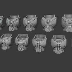 Assault_Squad_Torsos.png Download free STL file Firstborn Torsos - Jump Troop version • 3D printer design, Red-warden-miniatures
