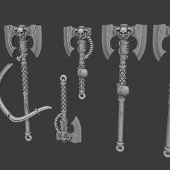 Imprimir en 3D gratis Hachas de fuerza, Cornivius