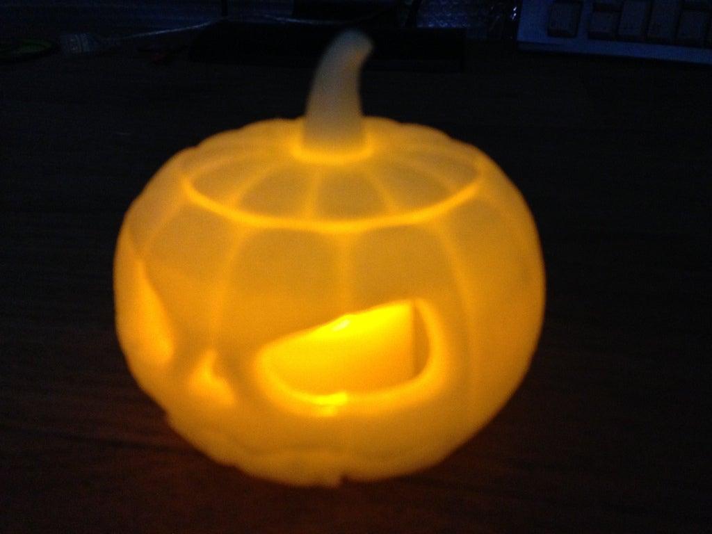 IMG_0167_display_large.jpg Download free STL file Jack o lantern pumpkin for battery tea light • 3D print model, procreator3D