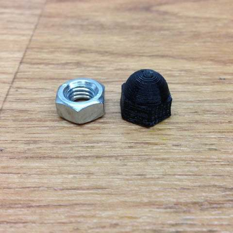Download free 3D printer designs M8 dome nut, procreator3D