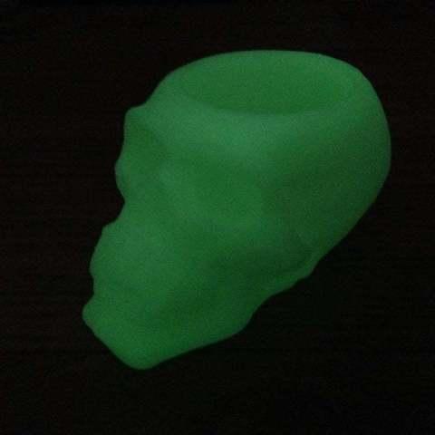 IMG_0163_display_large.jpg Download free STL file skull battery tea light holder • Template to 3D print, procreator3D