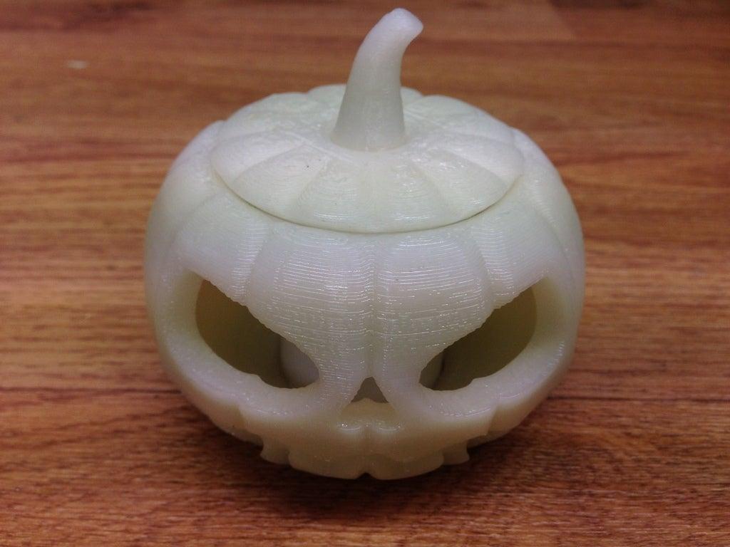 IMG_0164_display_large.jpg Download free STL file Jack o lantern pumpkin for battery tea light • 3D print model, procreator3D