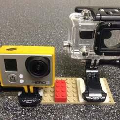 Archivos STL gratis Adaptadores de placas de montaje de Gopro a Lego, procreator3D
