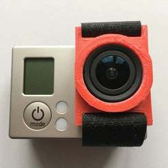 Download free 3D print files gopro hero 3 lens strap, procreator3D