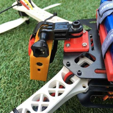 IMG_2131_display_large.JPG Download free STL file Sk450 quadcopter gopro mounting bracket • 3D print object, procreator3D