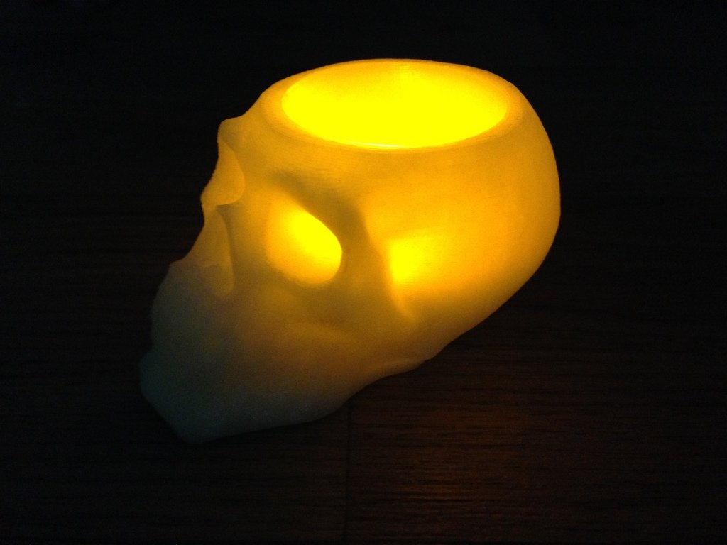 IMG_0161_display_large.jpg Download free STL file skull battery tea light holder • Template to 3D print, procreator3D