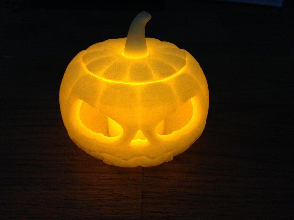 IMG_0166_display_large.jpg Download free STL file Jack o lantern pumpkin for battery tea light • 3D print model, procreator3D