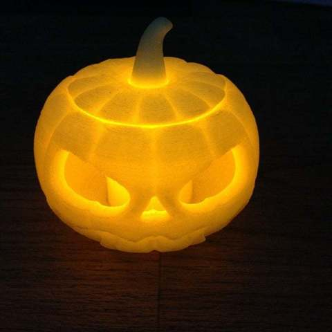 Download free 3D printing models Jack o lantern pumpkin for battery tea light, procreator3D