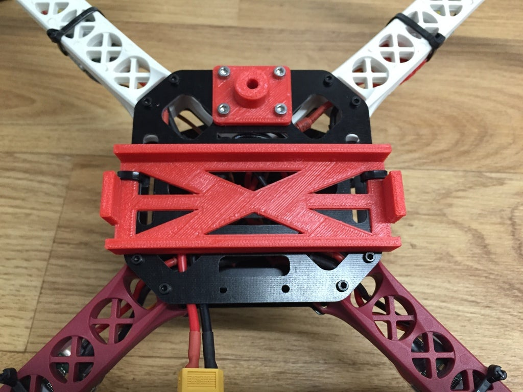 IMG_2114_display_large.JPG Download free STL file Sk450 quadcopter gopro mounting bracket • 3D print object, procreator3D