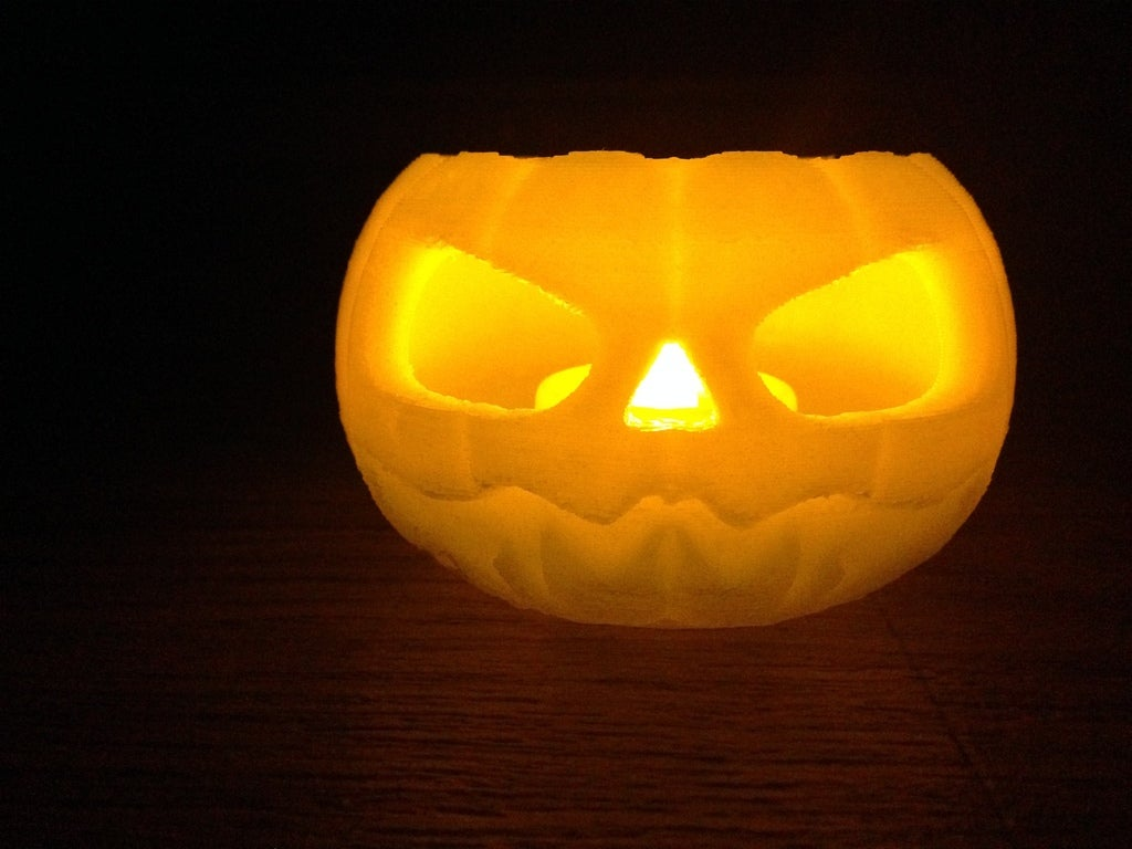 IMG_0146_display_large.jpg Download free STL file Jack o lantern pumpkin for battery tea light • 3D print model, procreator3D