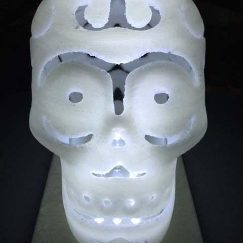 Download free 3D printer designs LED lamp base for halloween skull lamp, procreator3D