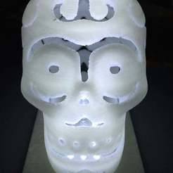 Download free 3D printer designs LED lamp base for halloween skull lamp, procreator3D