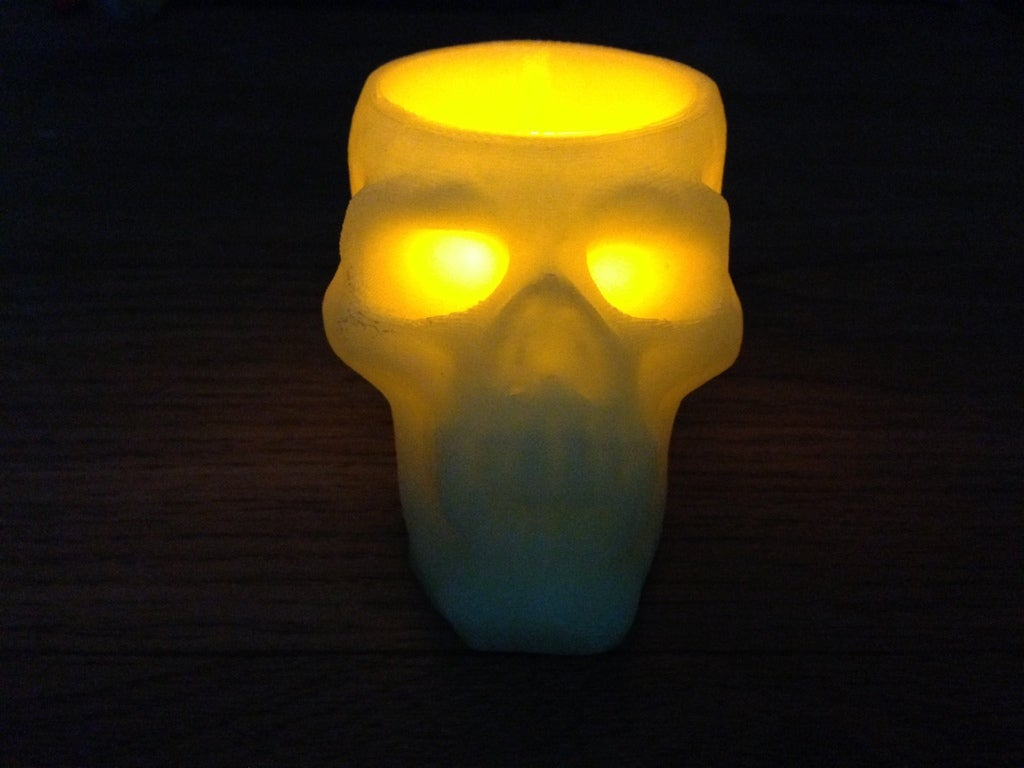IMG_0160_display_large.jpg Download free STL file skull battery tea light holder • Template to 3D print, procreator3D