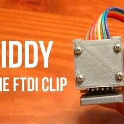 Download free 3D printer templates Fiddy - the FTDI Clip, dodoharrylazarus