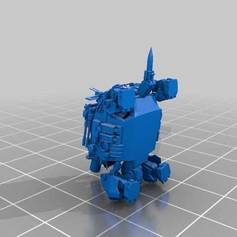 09d8a935eb57d7c01172a1cc52814b7b_display_large.jpg Download free STL file Zoids: HMM ZOIDS 1/72 RMZ-27 Cannon Tortoise • 3D printing template, Peanut3DButter