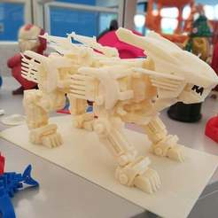 Download free 3D printer files ZOIDS Blade liger, Peanut3DButter