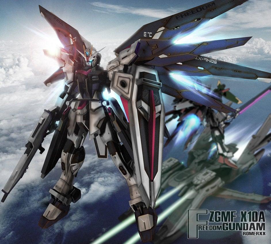 db7de41745937cd2fe188bfad6c25574_display_large.jpg Download free STL file Custom Gundam: Freedom inspired Gundam minus wings. • 3D print object, Peanut3DButter