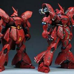 Download free 3D printer designs Gundam: Sazabi Ver KA, Peanut3DButter