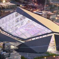 Free 3D printer model Vikings Stadium, Peanut3DButter