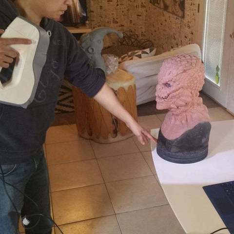 Descargar modelos 3D gratis Busto esculpido con interpretación Majin buu DBZ, Peanut3DButter
