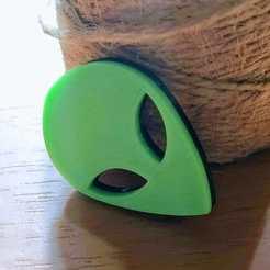 Télécharger fichier 3D gratuit Tête d'Alien mince, fabiuz